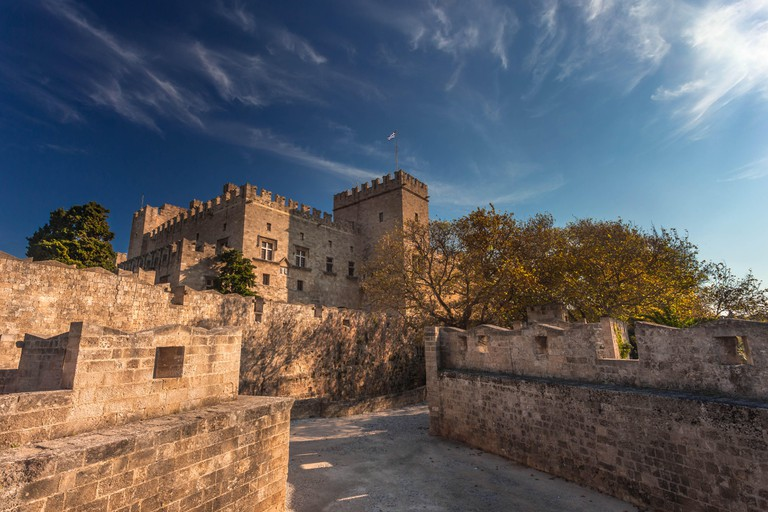 Palace of the Grand Master, Rhodes island, Greece.
