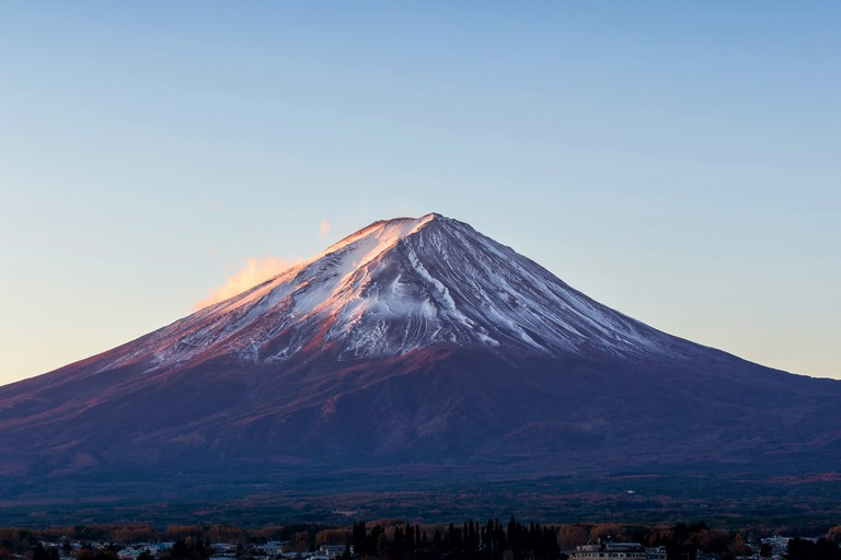 Mount Fuji at beautiful sunrise