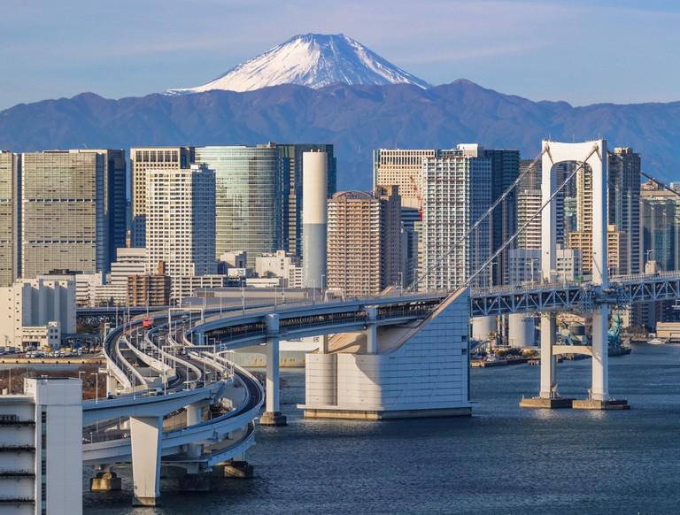 Tokyo Cityscape with Mt. Fuji