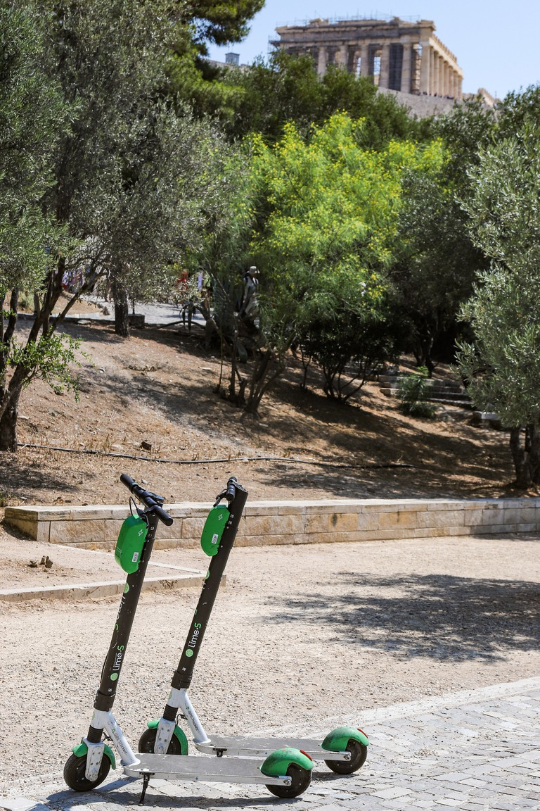 Lime-S Electric Scooters In Athens