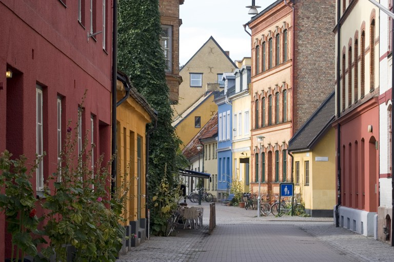 Quiet city street in Malmo, Sweden