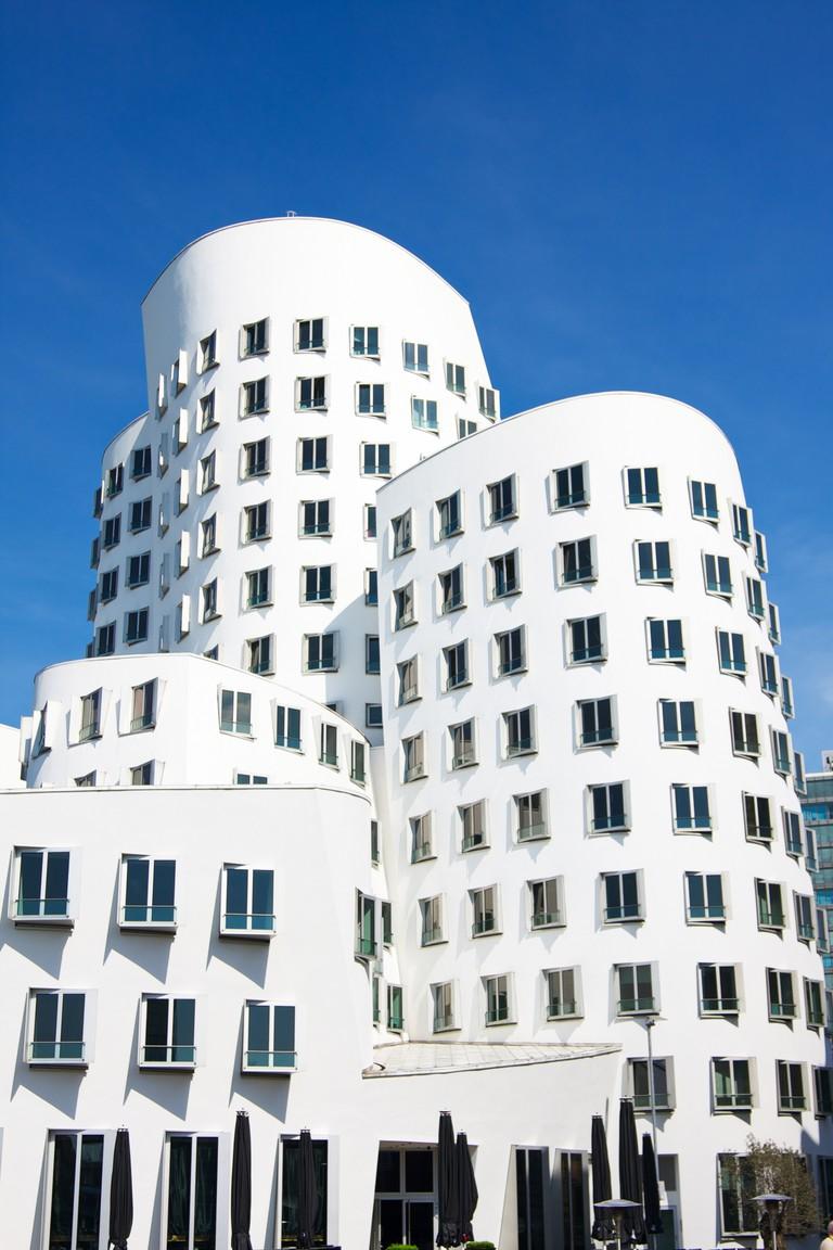Frank O. Gehry's Neuer Zollhof buildings at MedienHafen, Dusseldorf