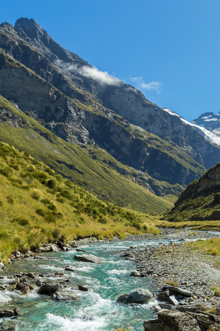 view of Earnslaw Burn Track in Glenorchy