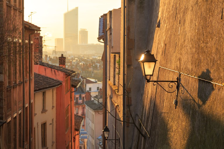 Lyon at dawn