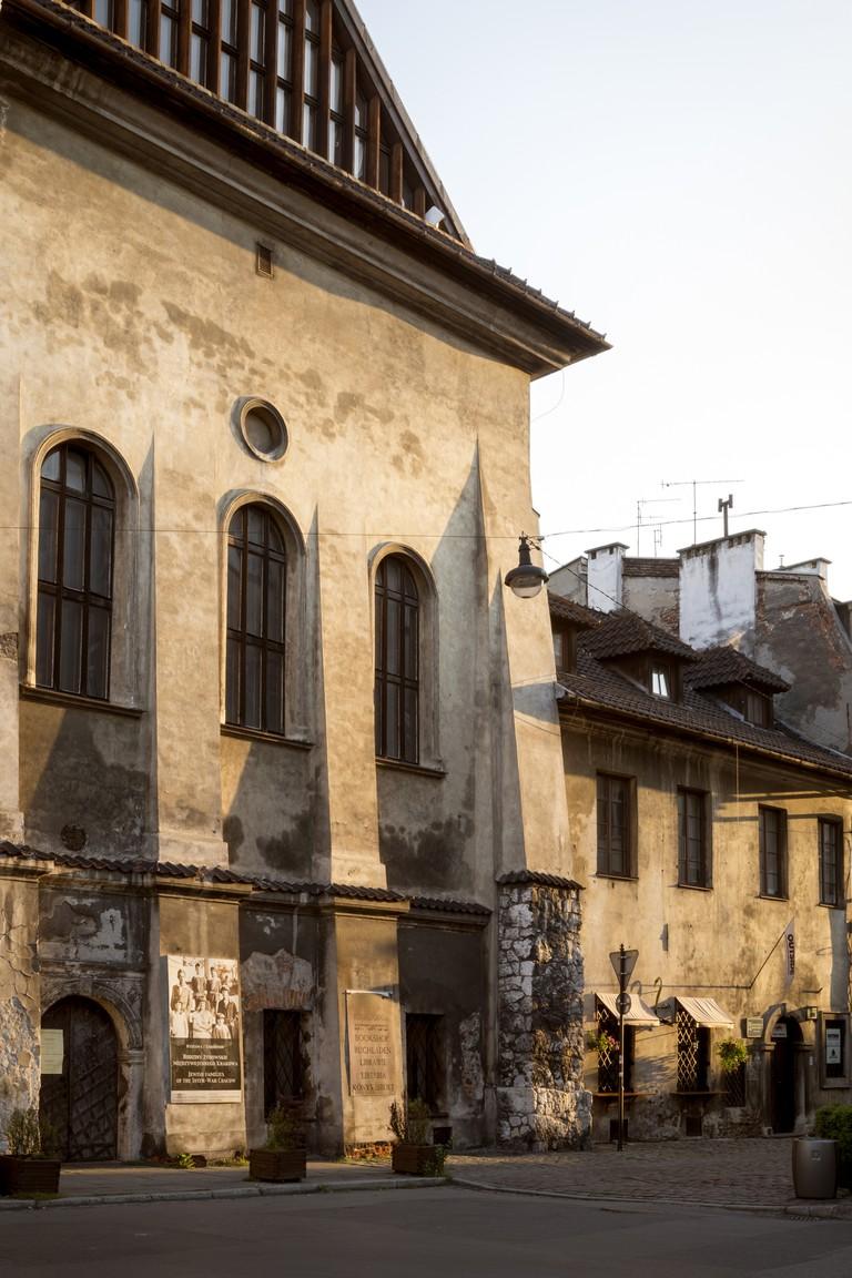 Street in Jewish Quarter of the Kazimierz district in Krakow, Poland