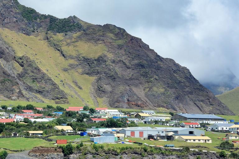 'Edinburgh of the Seven Seas' town  on Tristan da Cunha Island in the South Atlantic.