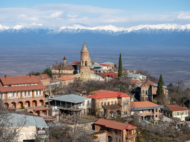 Sighnaghi, historic town in Kakheti region, Georgia