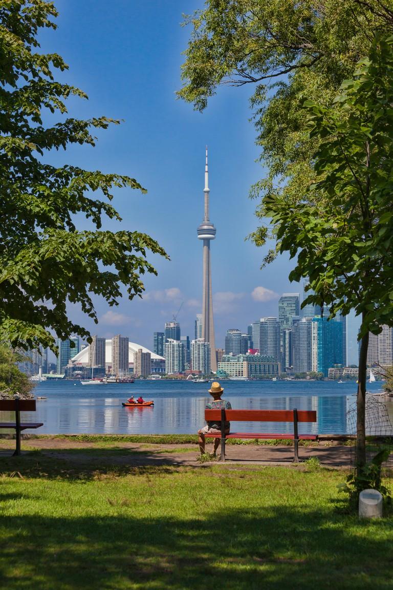Centre Island and Ward Island on Lake Ontario in Toronto, Ontario,Canada