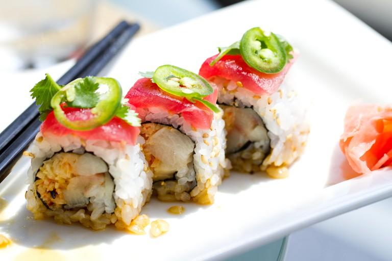 Tuna and yellowtail Sushi Roll
