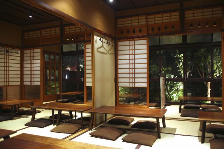 Interior of Yokobachi, Kumamoto.