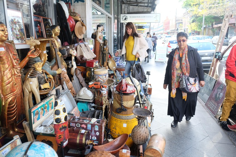 Shopping for bargains at King Street