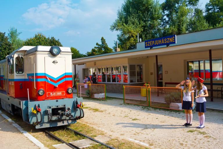 Gyermekvasut, Children's railway, Buda, Budapest, Hungary, Europe