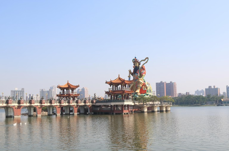 Yuandi temple Beiji Pavilion at Lotus Pond, Kaohsiung, Taiwan.