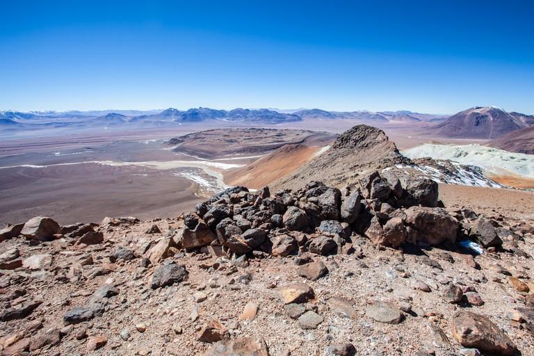 The summit of Cerro Toco mountain