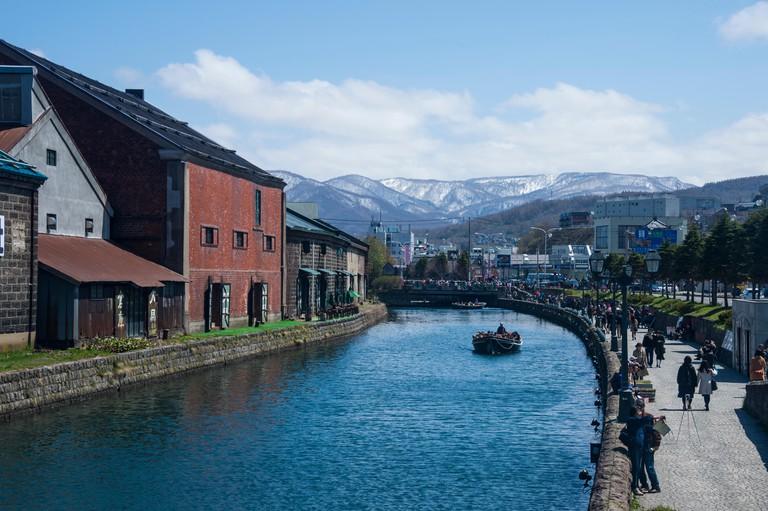 Otaru canal, Otaru, Hokkaido, Japan.