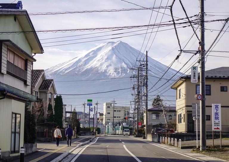 View of Mount Fuji in Yamanashi