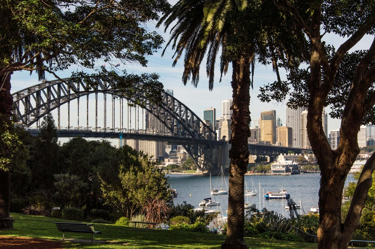 View of Harbour Bridge from Wendy's Secret Garden