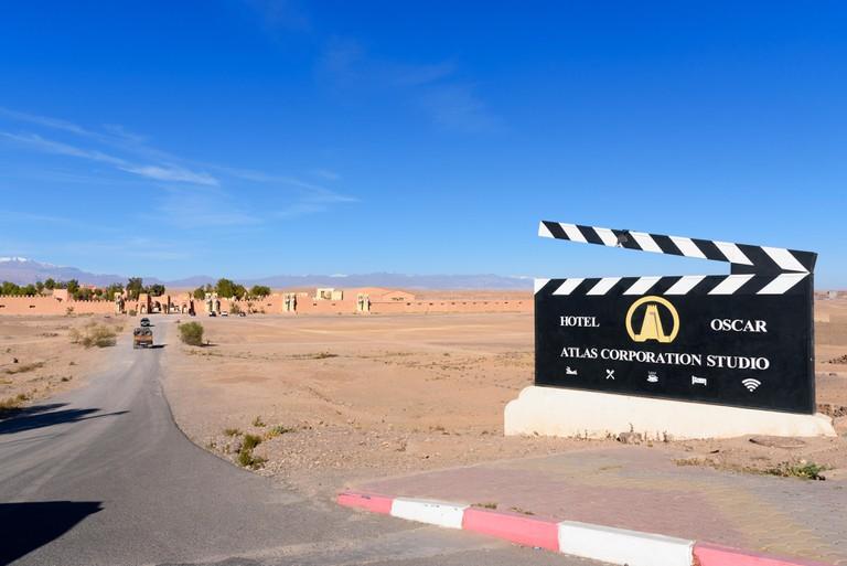 Entrance to Atlas Corporation Studios in Morocco