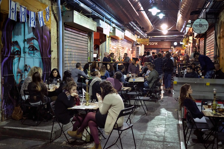 Nightlife scene in Mahane Yehuda market