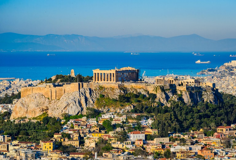 The Acropolis with the Parthenon in Athens, Greece