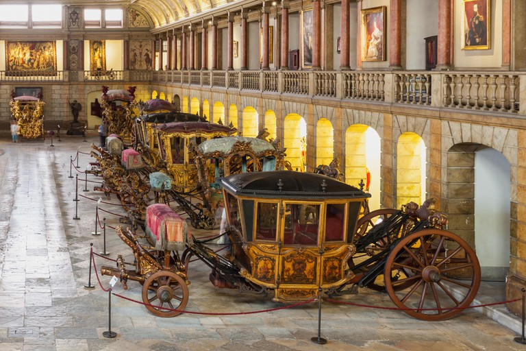 LISBON, PORTUGAL - JUNE 25: National Coach Museum (Museu dos Coches) on June 25, 2014 in Lisbon, Portugal