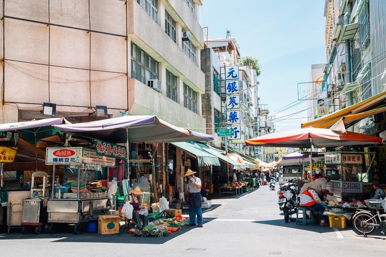 Nanhua Night Market street, Kaohsiung, Taiwan.