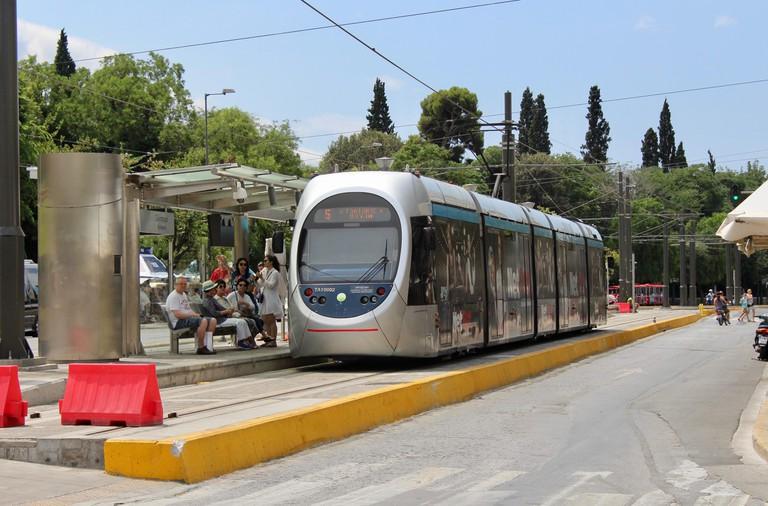 Street car tram in Athens