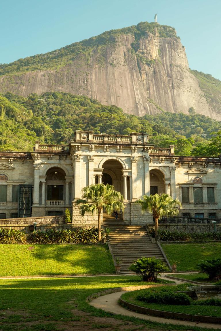 Rio de Janeiro, Brazil - December 16, 2017: Visual Arts School of Parque Enrique Lage in Rio de Janeiro, Brazil