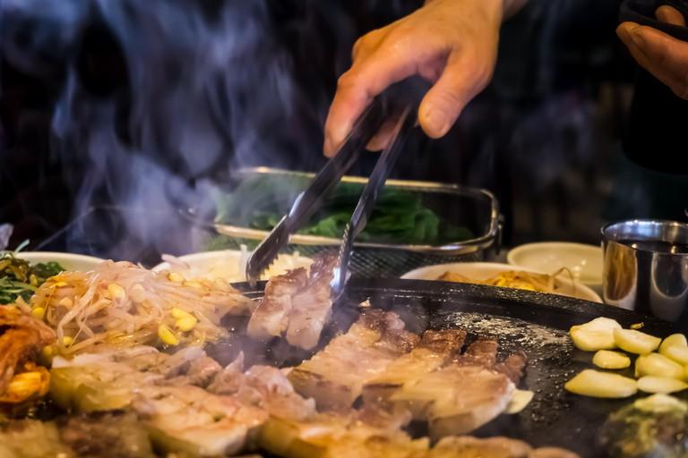 BBQ Black Pork in Jeju Island.