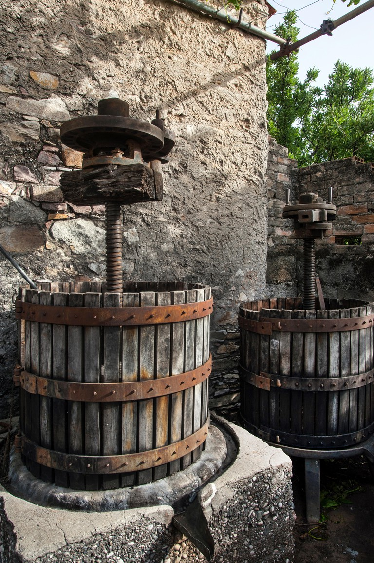 europe, greece, dodecanese, rhodes, embonas, village, merkouri, winery, wine