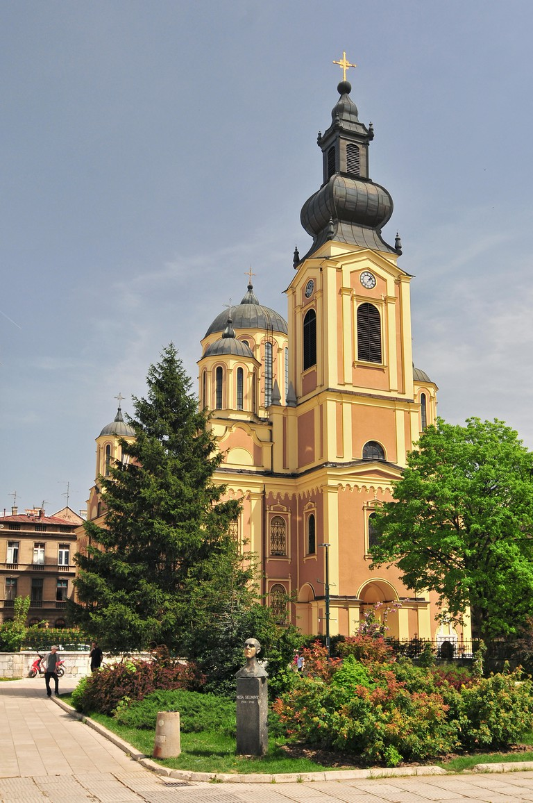 The Cathedral Church Of The Nativity Of The Theotokos In Sarajevo Bosnia That Cathedral Is The Largest Serbian Orthodox Church In Sarajevo