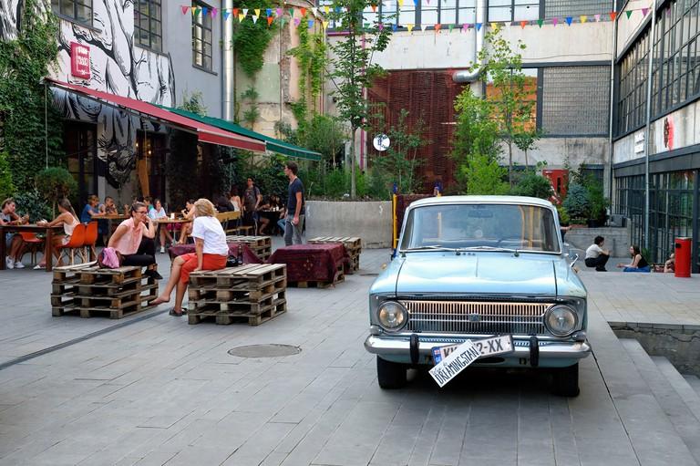Georgia, Tbilisi, Fabrika hotel cafe