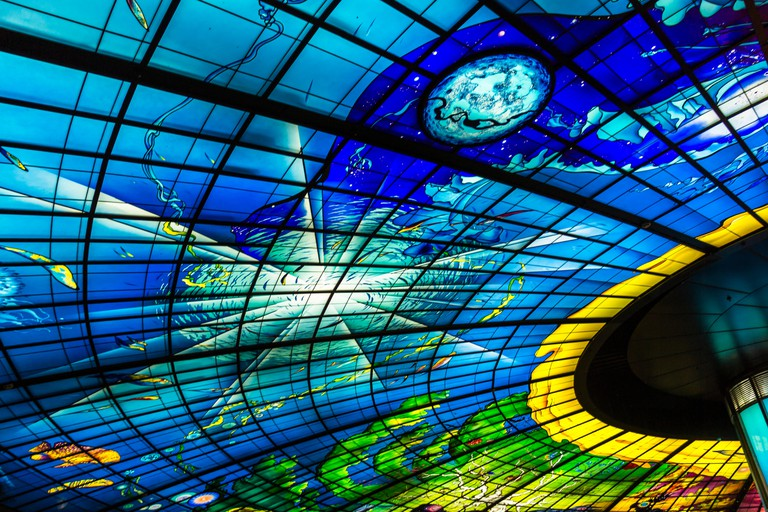 The Dome of Light at Formosa Boulevard station in Kaohsiung