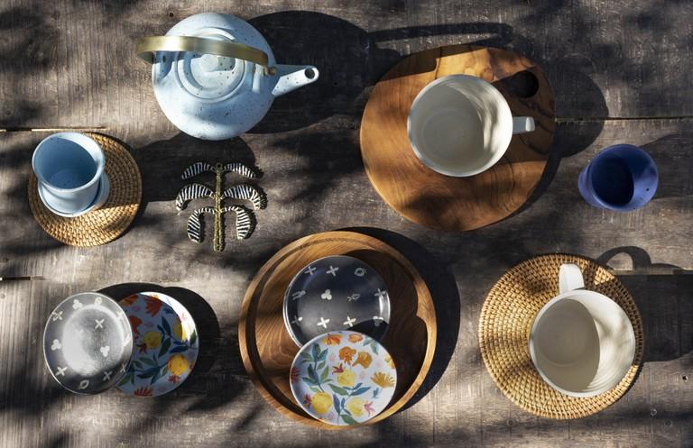 Rose Charm Tea Plates