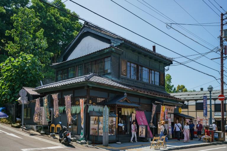 Exterior view of some stores around Otaru, Hokkaido, Japan