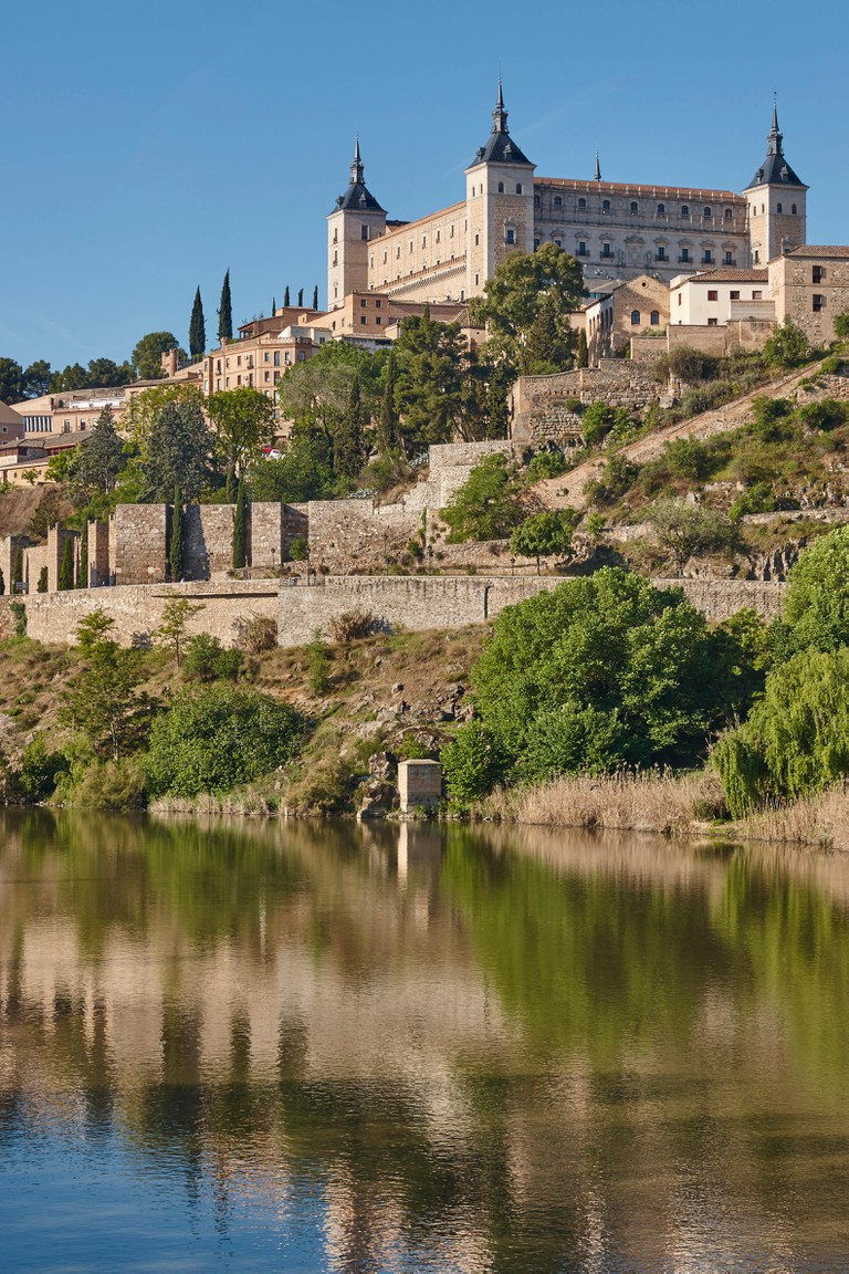 Toledo city and tajo river. Spanish medieval historic place. Travel