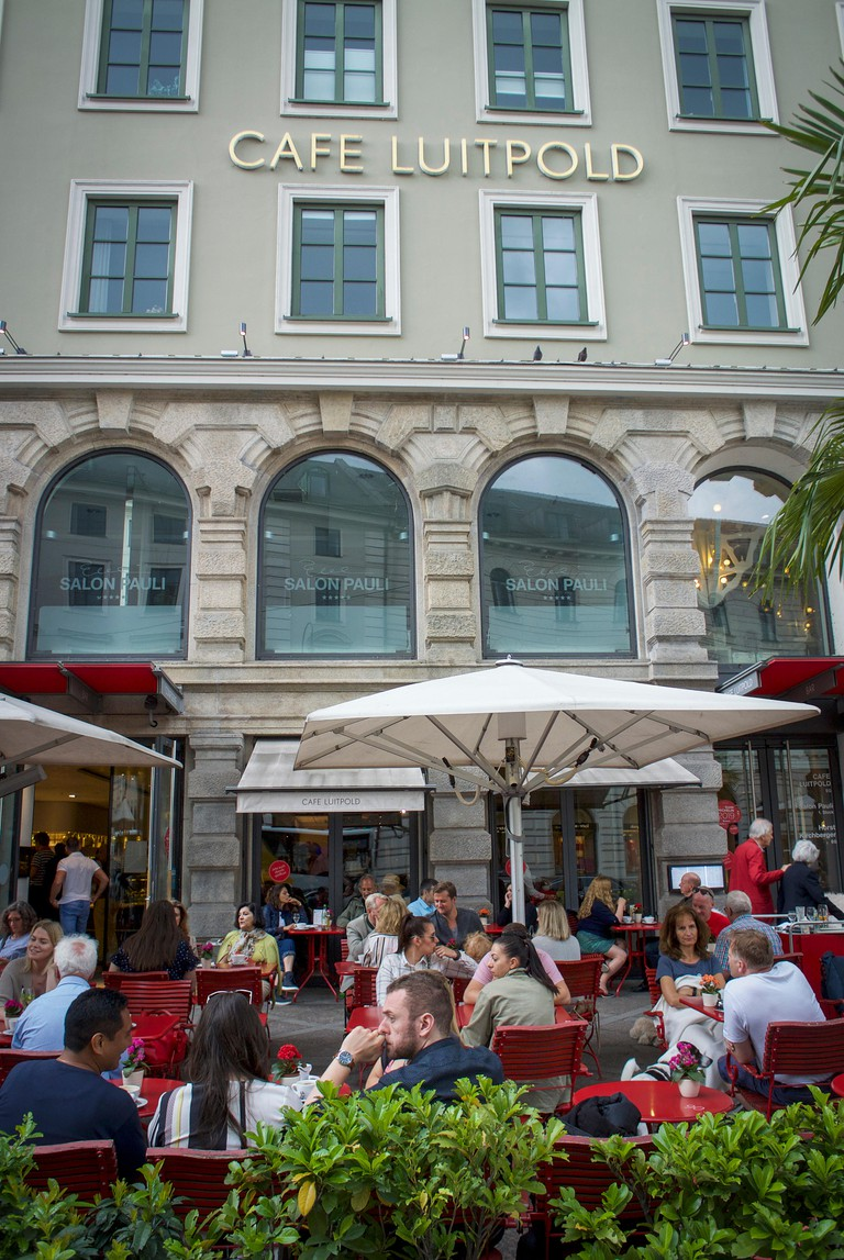 Famous Coffee House of Munich. The Cafe Luitpold