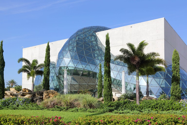 geodesic structures at the salvador dali museum in st petersburg on the florida coast