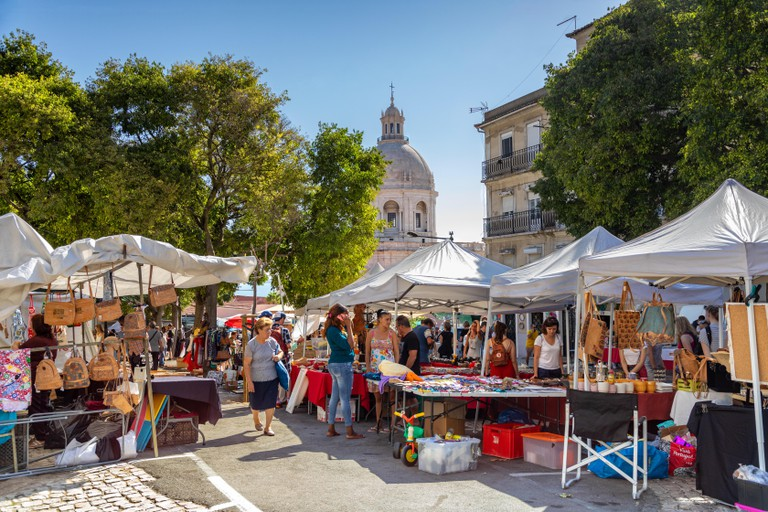 The Feira da Ladra is a twice weekly market, which is held within the Alfama district of Lisbon.