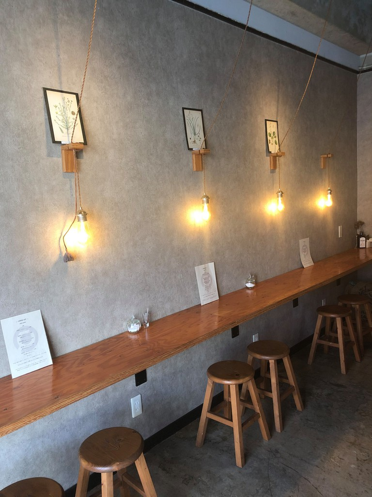 Interior of Yamada Coffee Okinawa