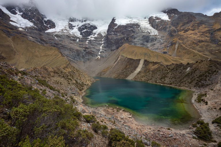Humantay glacier lake in Vilcabamba mountain range, Peru.