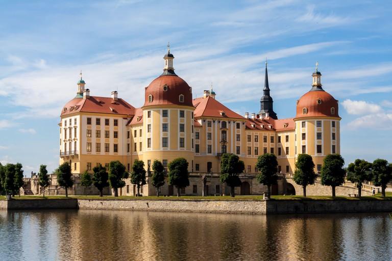 The water castle Moritzburg in saxony, Germany