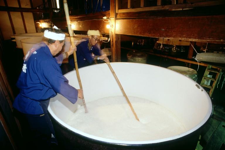 Sake factory in Niigata, Japan.