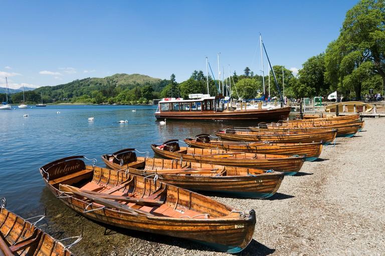 Waterhead Bay, Ambleside, Lake Windermere, Lake District.