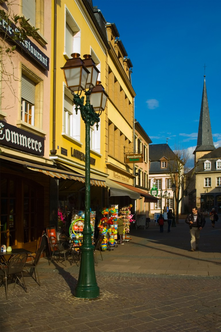 Diekirch pedestrian street in Luxembourg Europe