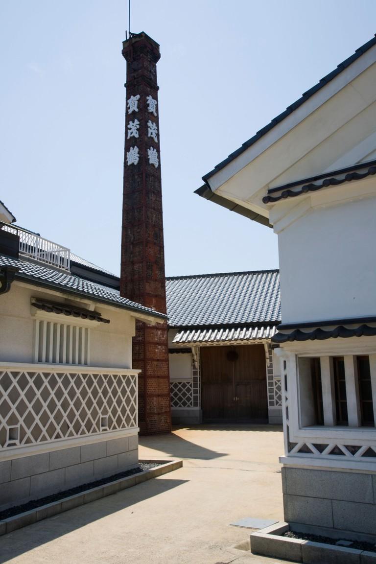 Kamo Tsuru Sake Brewer in Saijo, Hiroshima, Japan.