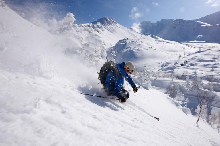 Skiing in Furano, Hokkaido, Japan