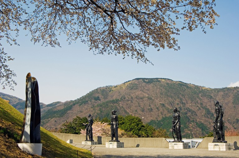 Modern sculptures and art displays at Hakone Open Air Museum