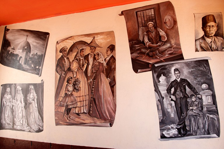 The Bo-kaap heritage mural made by various local artists
