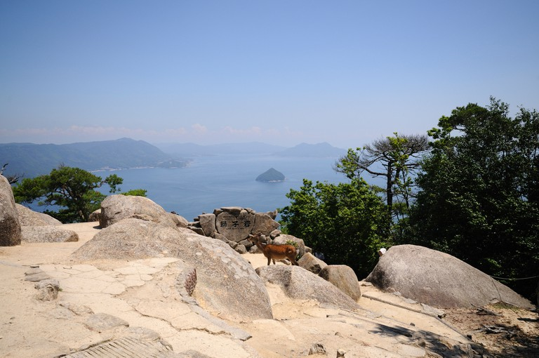 View of Seto Inland Sea from Mount Misen. Itsukushima (Miyajima) Island.